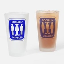 Socially Disabled.gif Drinking Glass