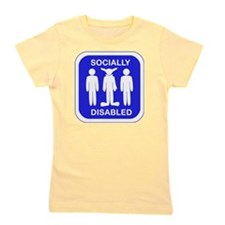 Socially Disabled.gif Girl's Tee