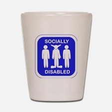 Socially Disabled.gif Shot Glass