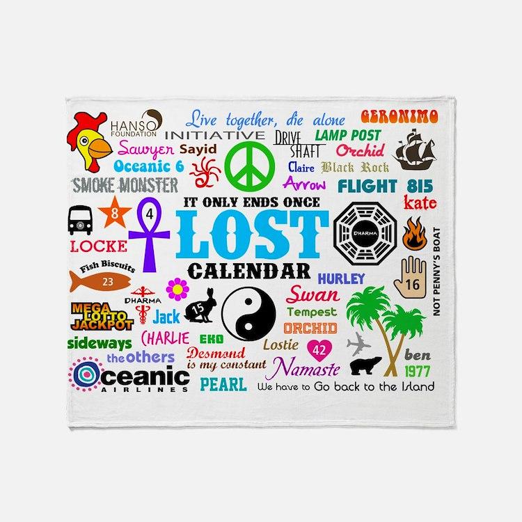 Print Calendar Throw Blanket