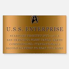 enterpriseplaque04 Sticker (Rectangle)