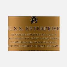 enterpriseplaque04 Rectangle Magnet