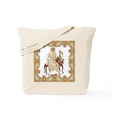 vintag-woman-on-bench_pillow Tote Bag