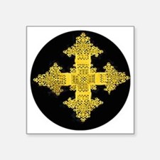"ethiopia cross performance  Square Sticker 3"" x 3"""