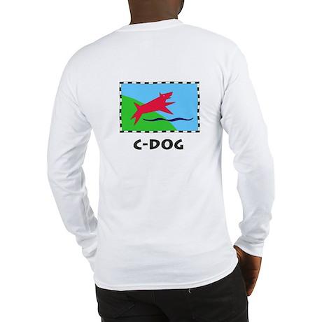 c-dog text Long Sleeve T-Shirt