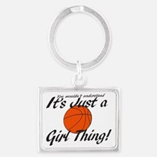 basketball Girl Thing Landscape Keychain