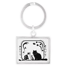Arts and cats Kopie Landscape Keychain