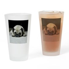 sad pug Drinking Glass