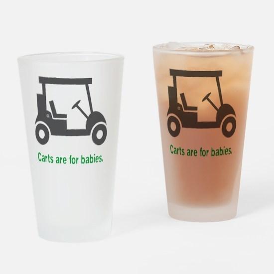 Golf_Carts_Green Drinking Glass