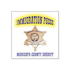 "migra posse Square Sticker 3"" x 3"""