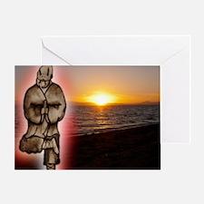 On Beach Image Greeting Card