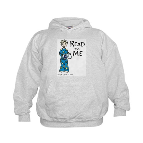 Read To Me boy 2 Kids Hoodie