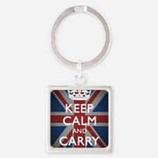 Keep Calm And Carry On (with Union Square Keychain