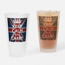 Keep Calm And Carry On (with Union  Drinking Glass