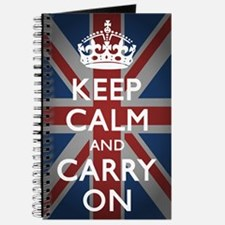 Keep Calm And Carry On (with Union Jack) Journal