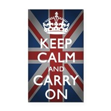 Keep Calm And Carry On (with  Rectangle Car Magnet