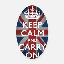 Keep Calm And Carry On (with Union Oval Car Magnet
