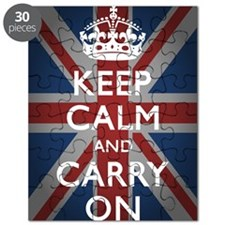 Keep Calm And Carry On (with Union Jack) Puzzle