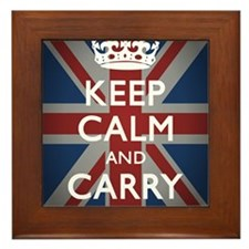 Keep Calm And Carry On (with Union Jac Framed Tile