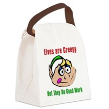 elf.eps Canvas Lunch Bag