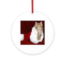 SH Kitty tile Round Ornament