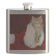 SH Kitty tile Flask
