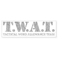 TWATSWAT Bumper Sticker