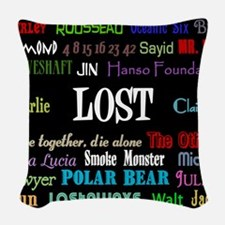 lostcollageipad Woven Throw Pillow