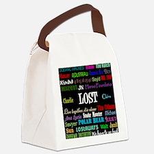 lostcollageipad Canvas Lunch Bag