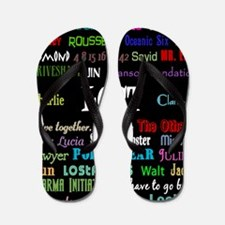 lostcollageipad Flip Flops