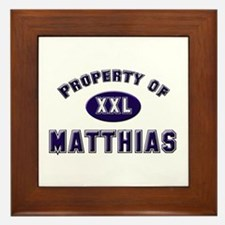 Property of matthias Framed Tile
