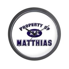 Property of matthias Wall Clock