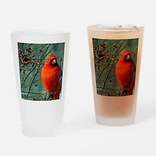 calendar winter cardinal Drinking Glass