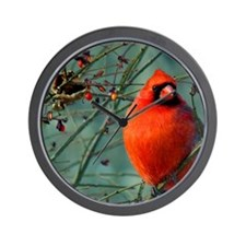 calendar winter cardinal Wall Clock