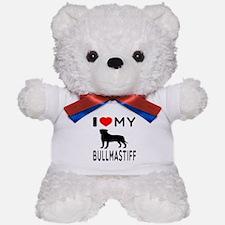 I Love My Bullmastiff Teddy Bear