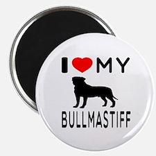 I Love My Bullmastiff Magnet