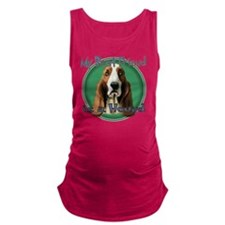 MY BEST FRIEND IS A HOUND Maternity Tank Top