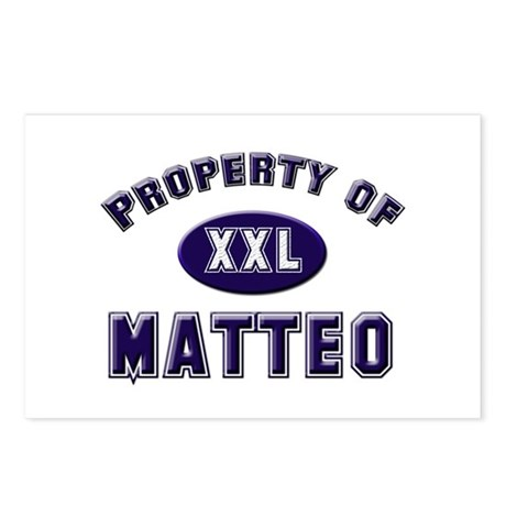 Property of matteo Postcards (Package of 8)
