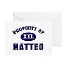 Property of matteo Greeting Cards (Pk of 10)