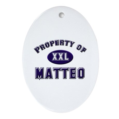 Property of matteo Oval Ornament