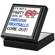 Party Until Swedish Meatballs Keepsake Box