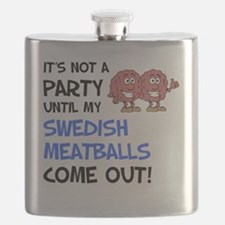 Party Until Swedish Meatballs Flask