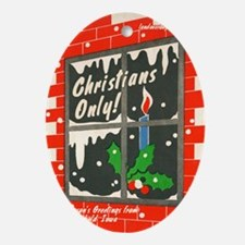 christiansonly Oval Ornament