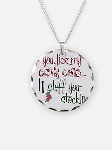 Lick my candy cane2 copy Necklace