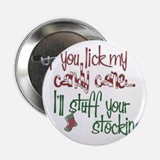 """Lick my candy cane2 copy 2.25"""" Button"""