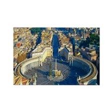 (sq) Rome-Piazza Rectangle Magnet