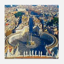(sq) Rome-Piazza Tile Coaster