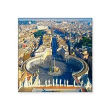 "(sq) Rome-Piazza Square Sticker 3"" x 3"""