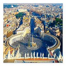 "(sq) Rome-Piazza Square Car Magnet 3"" x 3"""