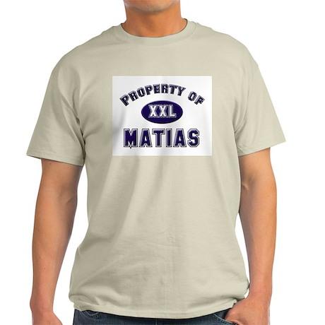 Property of matias Ash Grey T-Shirt